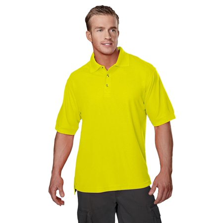 Tri Mountain Mens Big And Tall Safety Pique Golf Shirt