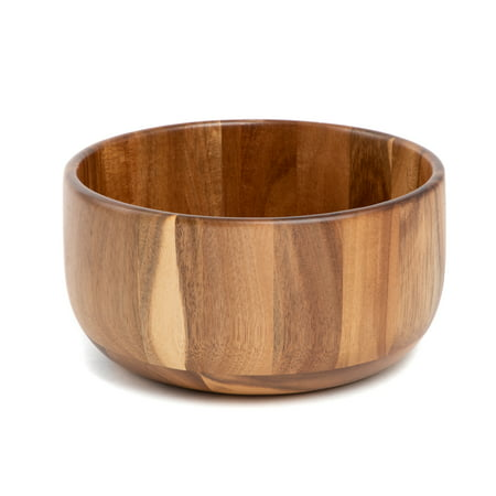 Better Homes & Gardens Large Modern Acacia Serving Bowl