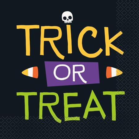 Easy Halloween Treats No Bake (Skeleton Trick or Treat Halloween Paper Luncheon Napkins, 6.5 in,)
