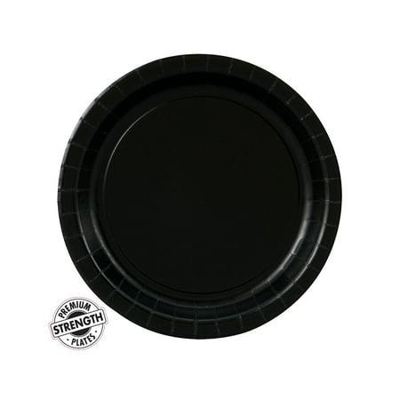 Black Party Supplies Dessert Plate - Black Dessert Plates