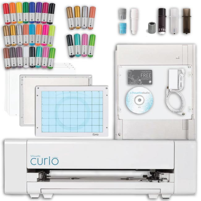 Silhouette Curio Digital Crafting Machine with Sketch Pen...