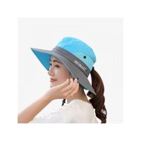 Topumt Women Men Outdoor Sun Hat Wide Brim Bucket Boonie Fishing Hiking Climbing Cap