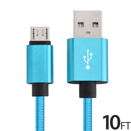 Micro USB Cable Charger for Android, FREEDOMTECH 10ft USB to Micro USB Cable Charger Cord High Speed USB2.0 Sync and Charging Cable for Samsung, HTC, Motorola, Nokia, Kindle, MP3, Tablet and