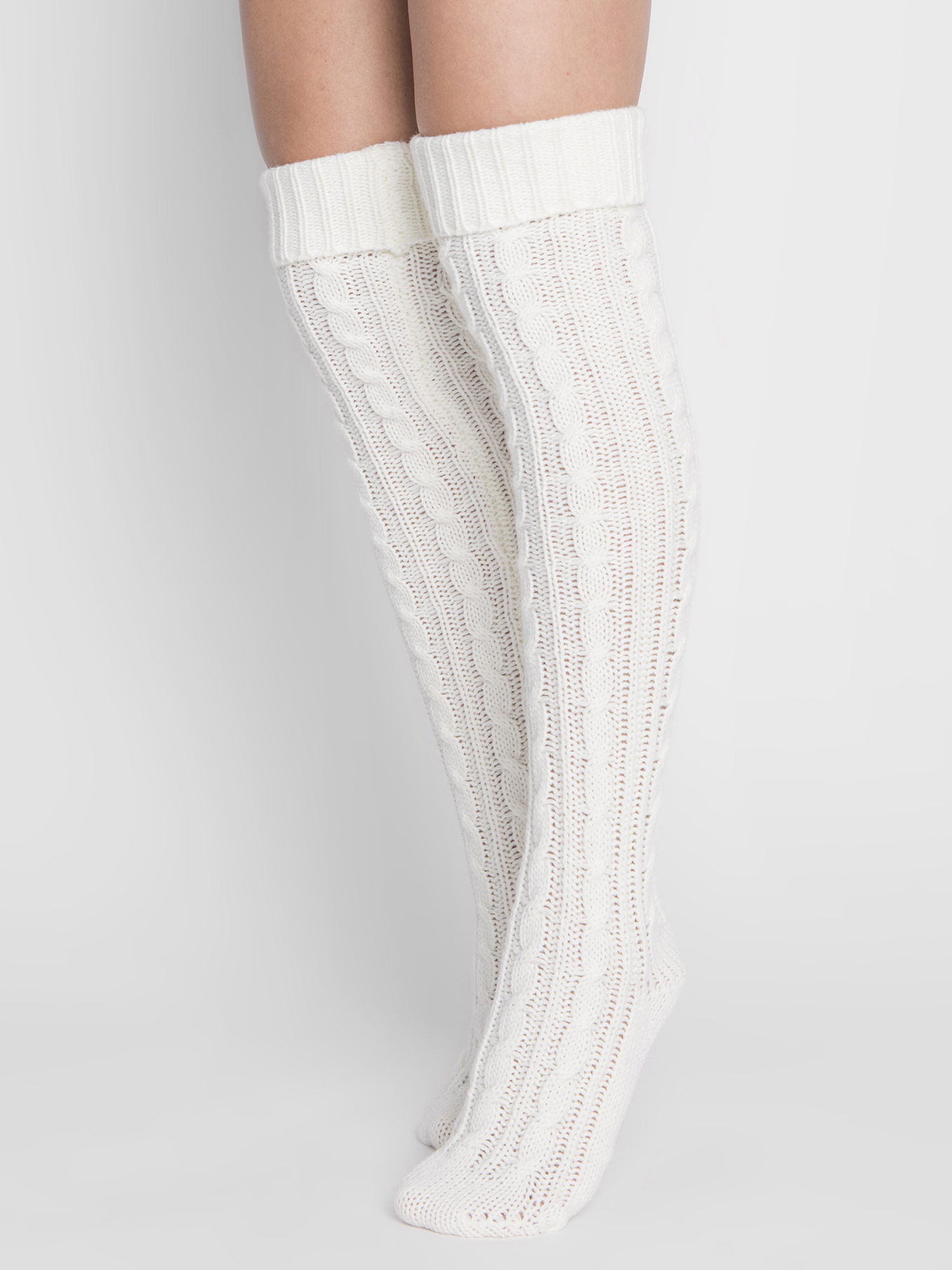 faf8b519398 Muk Luks - Women s Cable Knit Over the Knee Socks - Walmart.com
