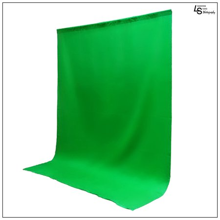 10 x 13' ft. Chroma Key Green Screen Seamless Muslin Fabric Cloth Backdrop for Photography and Video by Loadstone Studio WMLS0362 Chroma Key Green Muslin