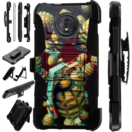 For Motorola Moto G6 Plus Case Armor Hybrid Silicone Cover Stand LuxGuard Holster -