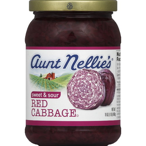 Aunt Nellie's Sweet & Sour Red Cabbage, 16 oz (Pack of 6)