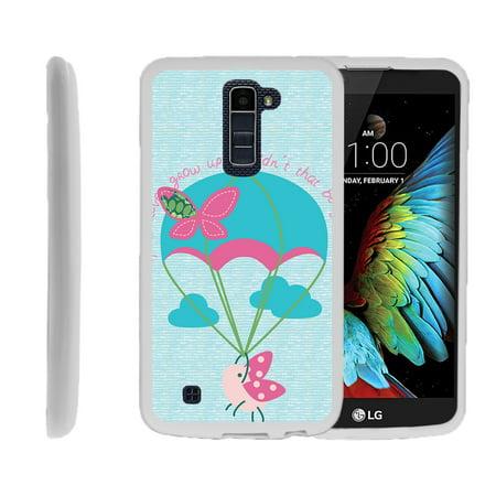 LG K10, LG Premier LTE, K430, Flexible Case [FLEX FORCE] Slim Durable TPU Sleek Bumper with Unique Designs - Ladybug Parachute