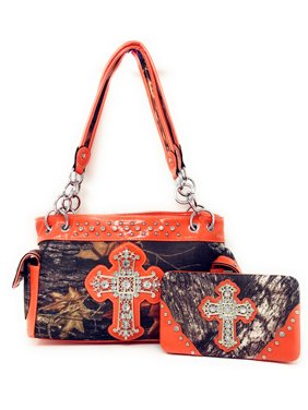 e82e240e3 Product Image Western Rhinestone Camouflage Handbag With Matching Wallet In  Multi Collections