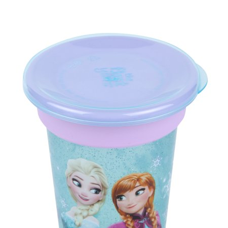 Frozen Sip Around™ Spoutless Cup - 2 Cups in 1 Spoutless for 360 Degrees of Sipping & Converts to Big Kid's Open Cup