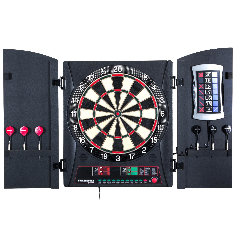 Bullshooter by Arachnid E-Bristle Cricketmaxx 3.0 Dartboard Cabinet Set