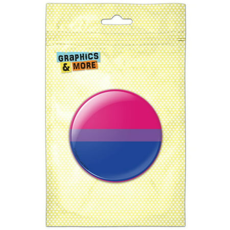 Bisexual Bisexuality Pride Flag Pink Purple Blue Pinback Button Pin - Custom Button Pins