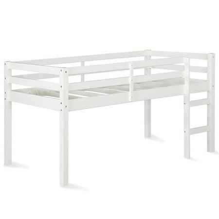 Dorel Living Milton Twin Junior Loft Bed in White