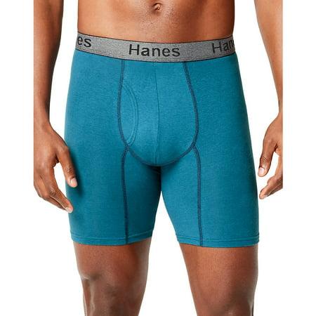 Hanes Men's Comfort Flex Fit® Ultra Soft Cotton Stretch Long Leg Boxer Briefs 3-Pack - CFFLC3