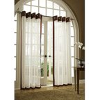 Belle Maison Melrose Reversible Sheer Curtain Panel
