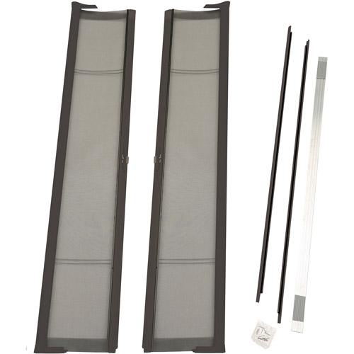 "ODL Brisa Short Double Door Single Pack Retractable Screen for 78"" In-Swing or Out-Swing Doors, Bronze"