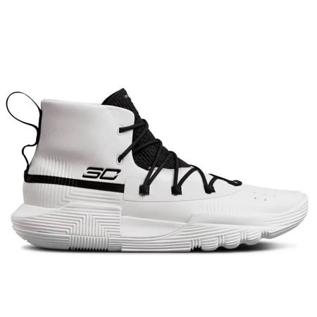 Under Armour Men's SC 3ZER0 II Basketball Shoe, White (103)/Black,