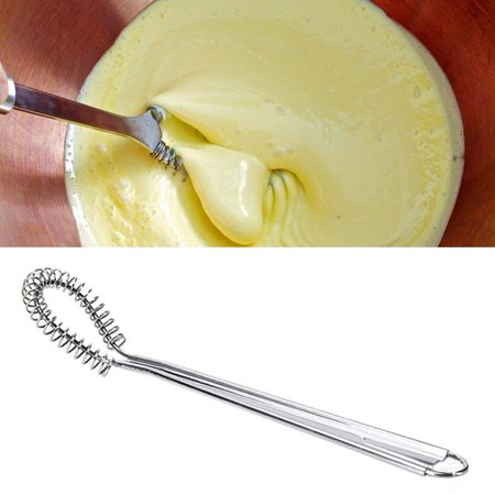 430 Stainless Steel Honey Stirring Stick Honey Spoon Spring Egg Whisk Beater Milk Frother Foamer Coffee Mixer - Egg Spoon