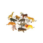 "Assorted 3"" Zoo Animals Figures Halloween Trick or Treat Toys"