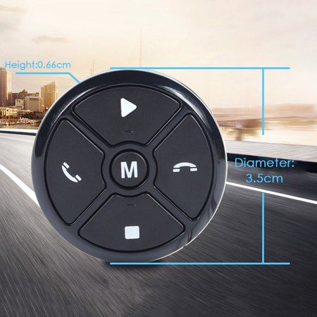 Car Smart Steering Wheel Controller Wireless Universal Multifunctional DVD Navigation Button Key Remote Control - image 2 of 7