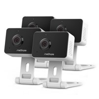 meShare 1080p Mini Wireless Two-way Audio Camera 4-Pack with Free 6-Month Cloud Service Plan and Cloud AI Security-Works with Google Assistant