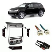 Fits Nissan Murano 03-07 Multi DIN Harness Radio Dash Kit - Brush Aluminium