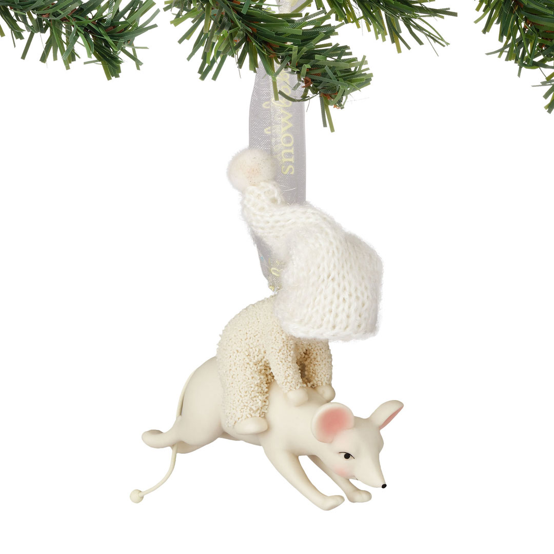Dept 56 Snowbabies Leaping With A Mouse Ornament 4051946  New 2016