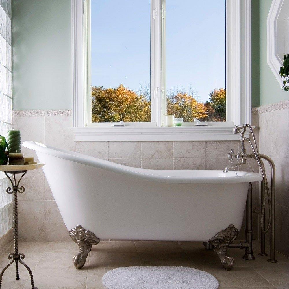 Vintage Tub & Bath Charlotte 57 Inch Cast Iron Slipper ...