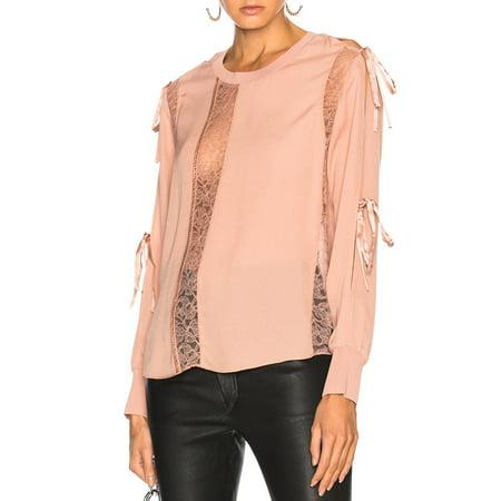 Womens Lace-Trim Cold-Shoulder Silk Blouse (Phillip Lim Top)