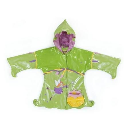 - Kidorable Little Girls Green Fairy Pouch Pocket Hooded Rain Coat 2T-6X