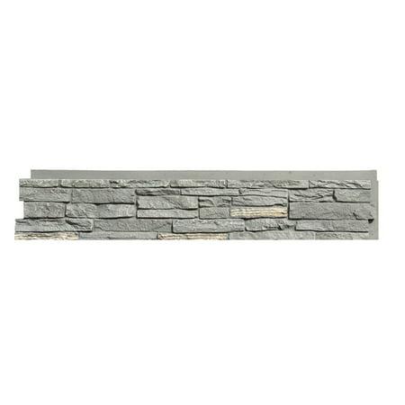 Faux Stone Panels - NextStone™ Faux Polyurethane Stone Siding Panel - Slatestone Midnight Ash