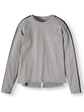 Athletic Works Long Sleeve Side Taped Active T-Shirt (Little Girls, Big Girls & Plus)