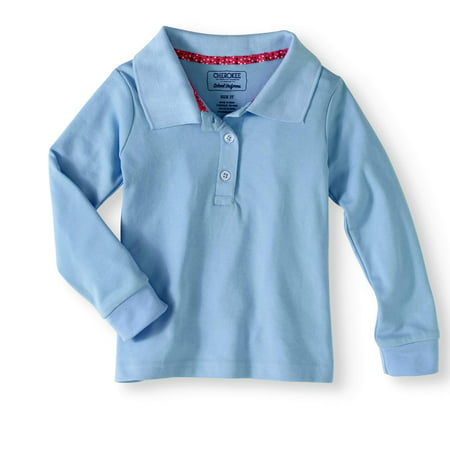 7e52421ad Cherokee - Toddler Girl Uniform Long Sleeve Polo Shirt - Walmart.com