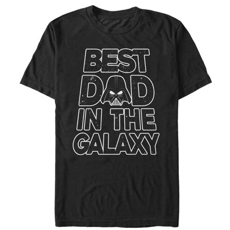 star wars men's father's day best dad darth vader helmet (Darth Vader Best Dad Shirt)