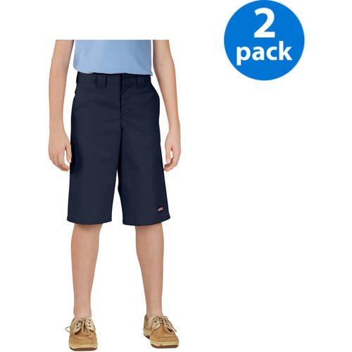 Genuine Dickies Boy's Shorts with Multi Use Pocket, 2 Pack