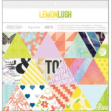 American Crafts Lemonlush Paper Pad 12