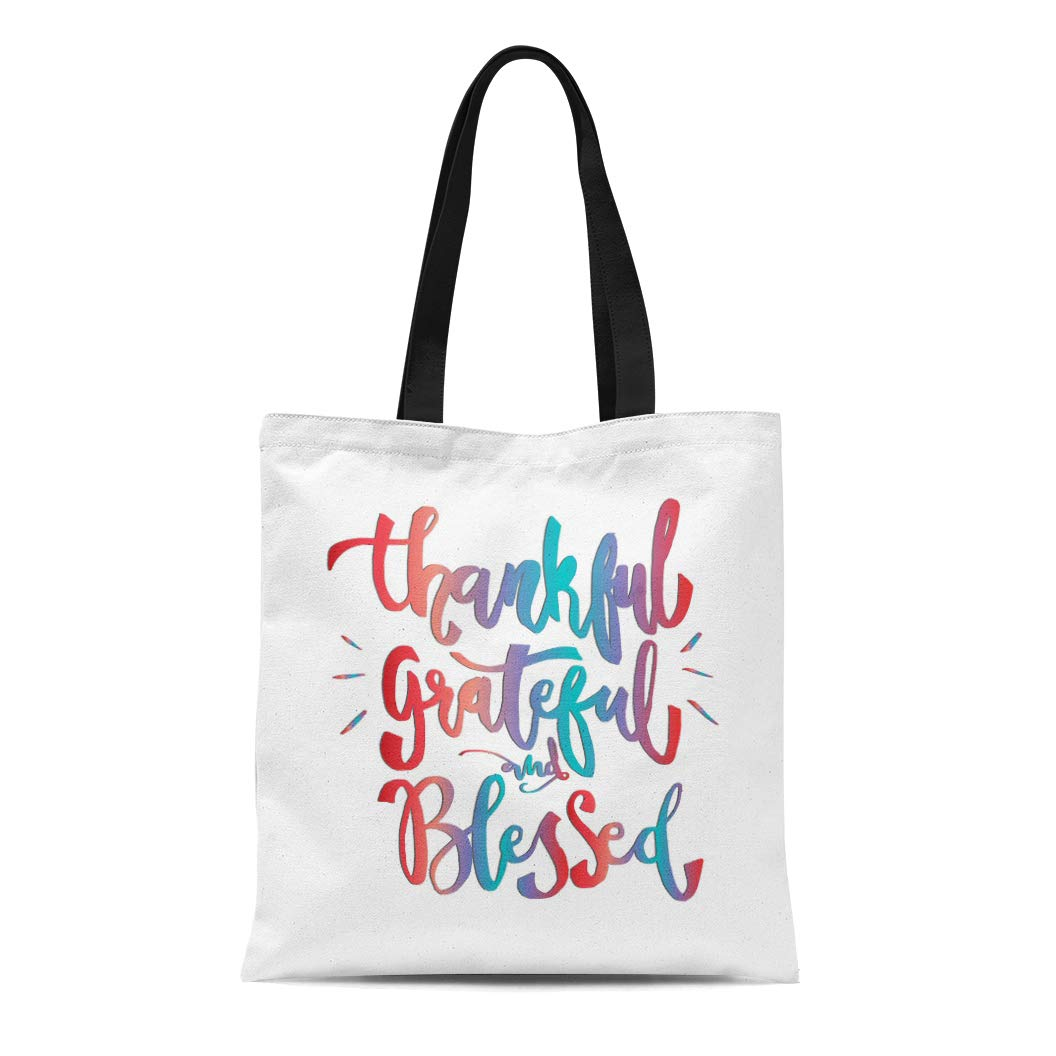 Be Thankful Inspirational Tote Bag