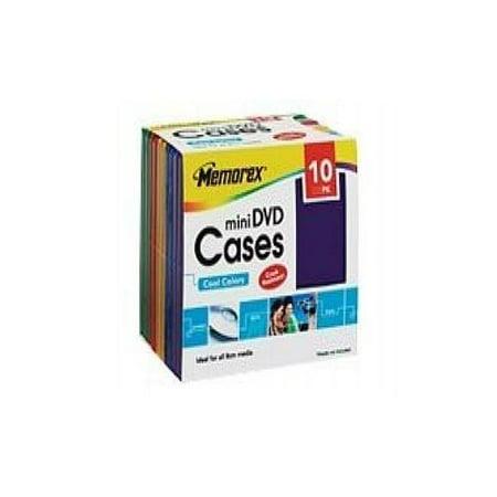 memorex mini dvd cases storage mini dvd case blue yellow red