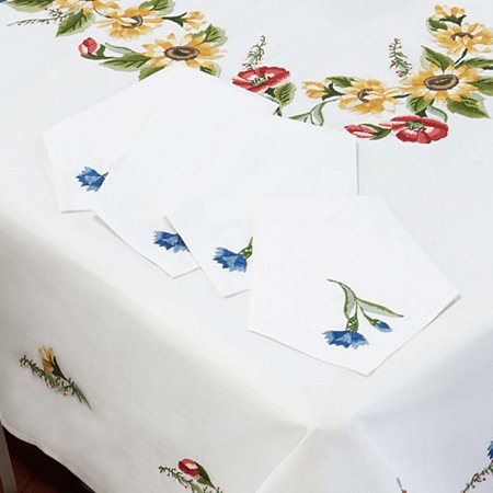 Nob Hill™ Sunflower Wreath Napkins Stamped Embroidery