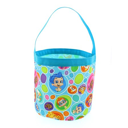 Bubble Guppies Boys Girls Collapsible Nylon Beach Bucket Toy Storage Gift Tote Bag B19BU42180