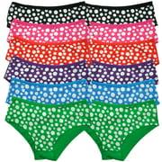 Womens Cotton Polka-Dot Hiphugger Panty (12 Pairs)