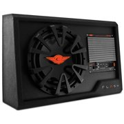 "Cadence Acoustics FXB12SA.v2 Single 12"" 800W Super Slim Car Audio Subwoofer Super Active Enclosure"