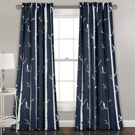 Bird on the Tree Room Darkening Window Curtain Set for $<!---->