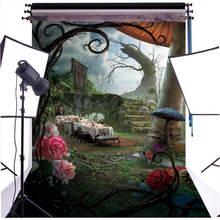 HelloDecor Polyster 5X7ft Fantasy Fairy Tale Wonderland Dinner Photography Backdrop Photo Background Studio Prop