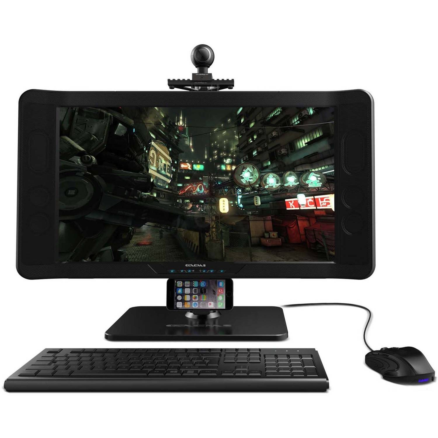 GAEMS Weighted Rail System Monitor Stand and Accessory Mount