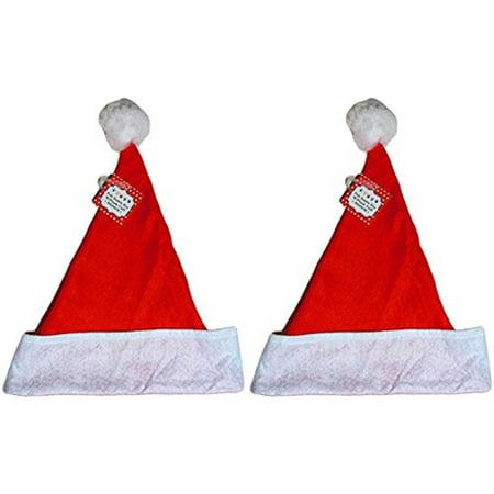 Felt Large Holiday Christmas Red Santa Hat With Plush Cuff (2 Hats) (Daenerys Targaryen Costume Diy)
