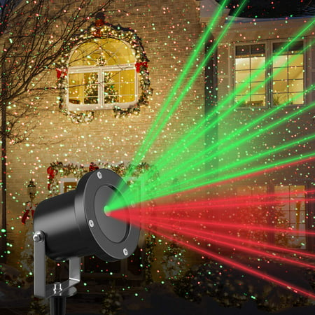 Christmas Red & Green Laser LED Outdoor Light Projector by (Best Christmas Light Projector)