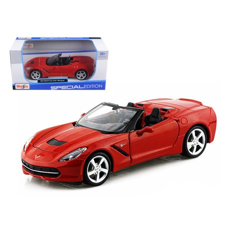 2014 Chevrolet Corvette C7 Convertible Metallic Red 1/24 Diecast Model Car by