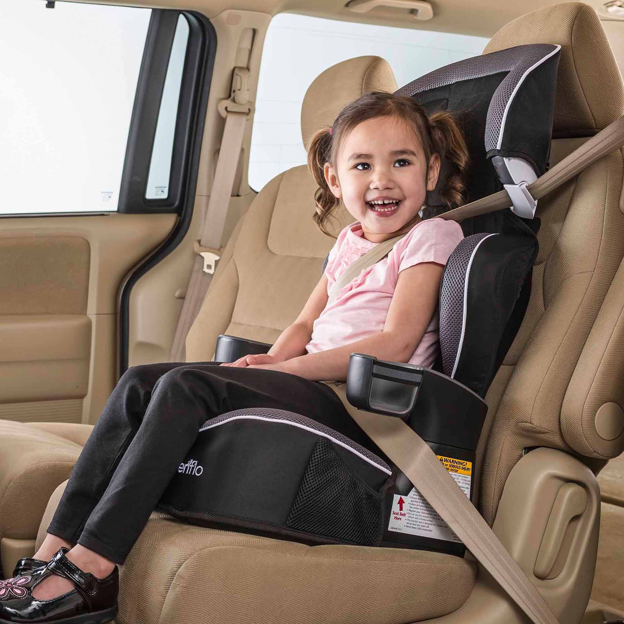 Evenflo Big Kid Advanced High Back Booster Car Seat, Aelle