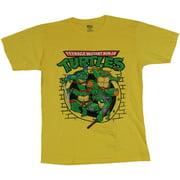 Teenage Mutant Ninja Turtles TMNT Mens T-Shirt - Cartoon Sewer Pipe Attack